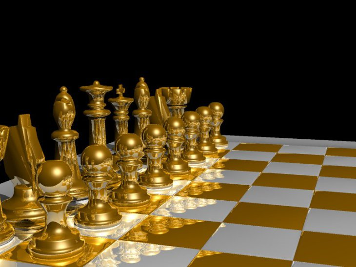 Raytraced chessboard