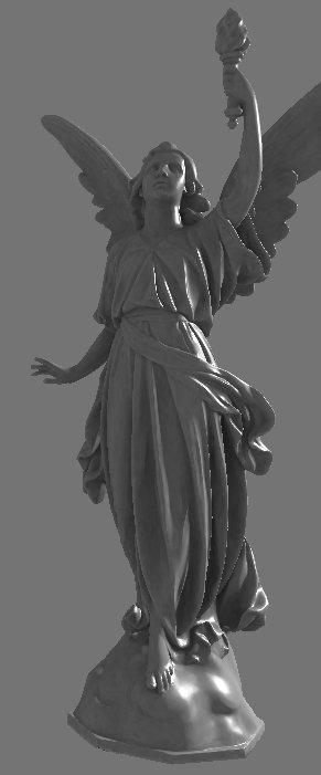 Rendered statue